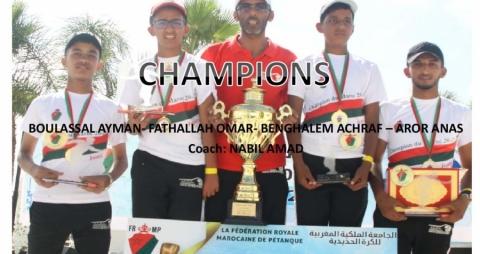 La Ligue du Centre Championne du Maroc Juniors 2020/2021
