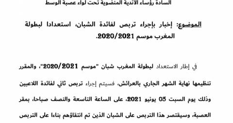 Concentration des Juniors LC le 05/06/2021